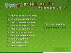 萝卜家园GHOST XP SP3电脑城装机版2011年12月制