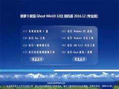 新萝卜家园Ghost Win10 (X32) 经典珍藏版v2016.12(激活版)